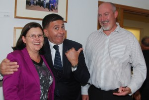 Helen, Vince Sorrenti and Adam at the Immigration Place Launch